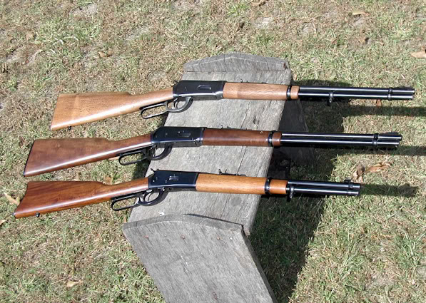Pre 64 model 94 a post 64 model 94 and a rossi 92 top to bottom